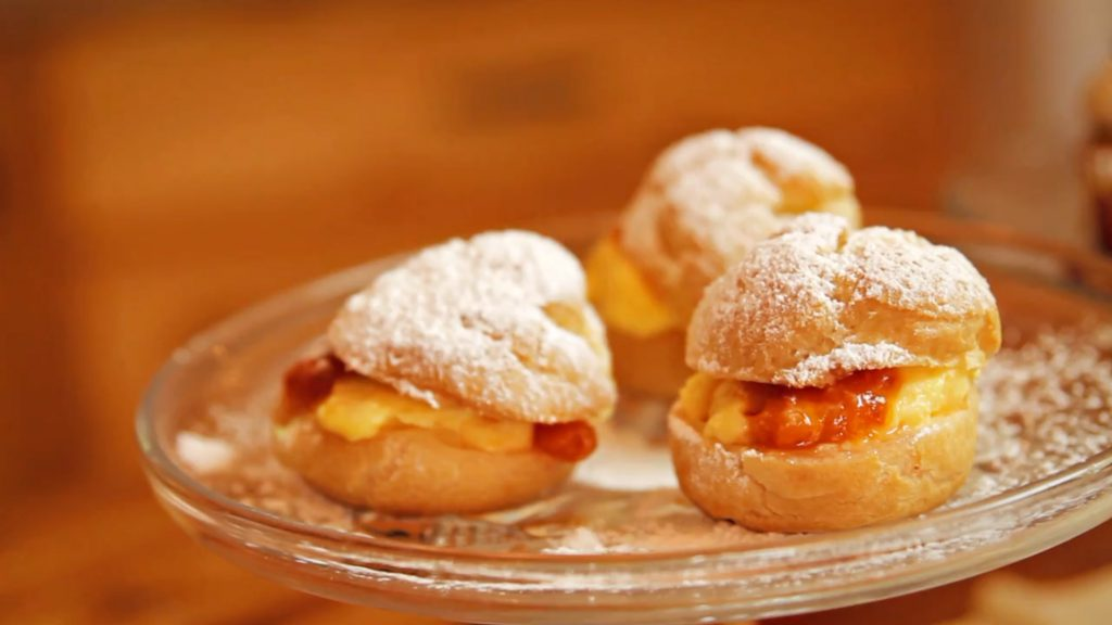 Claire's Cloudberry Cream Puffs