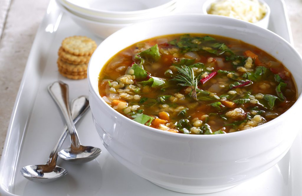 Tuscan Greens and Lentil Soup