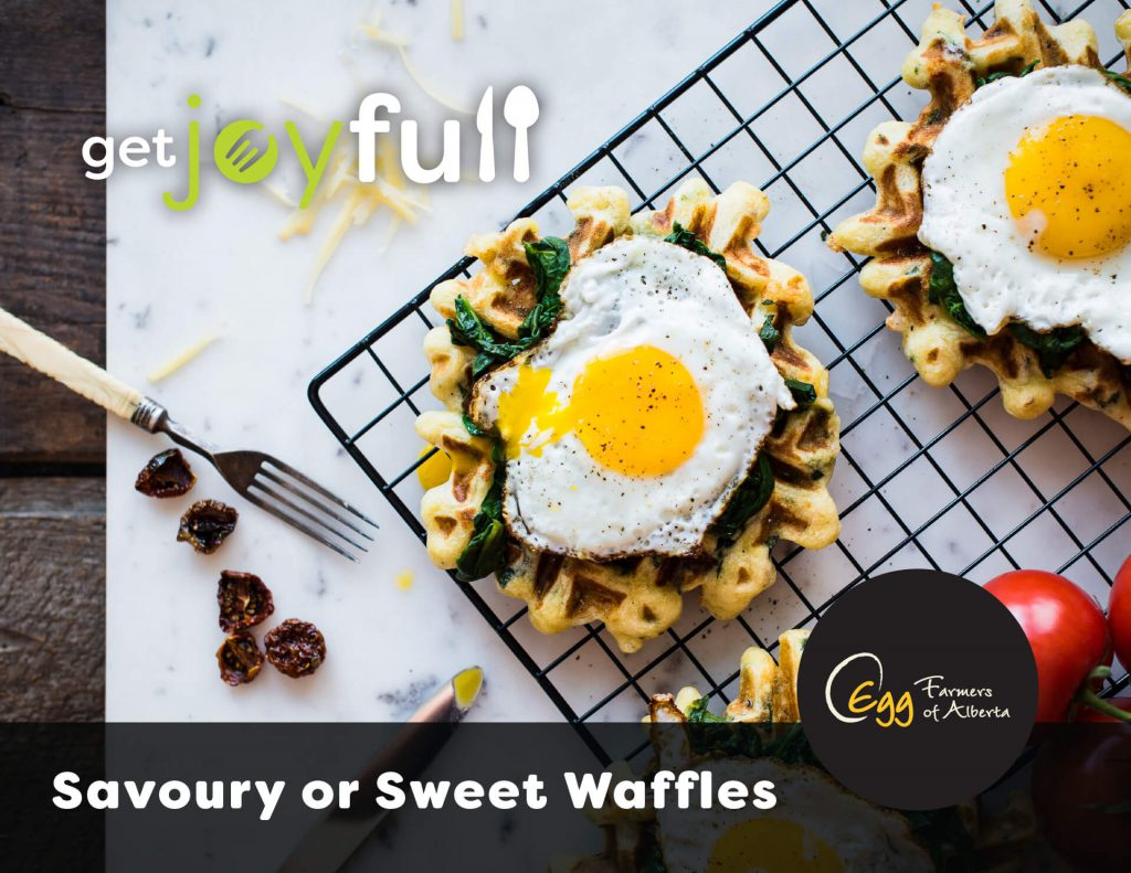 Savoury or Sweet Waffles Recipe Card Cover