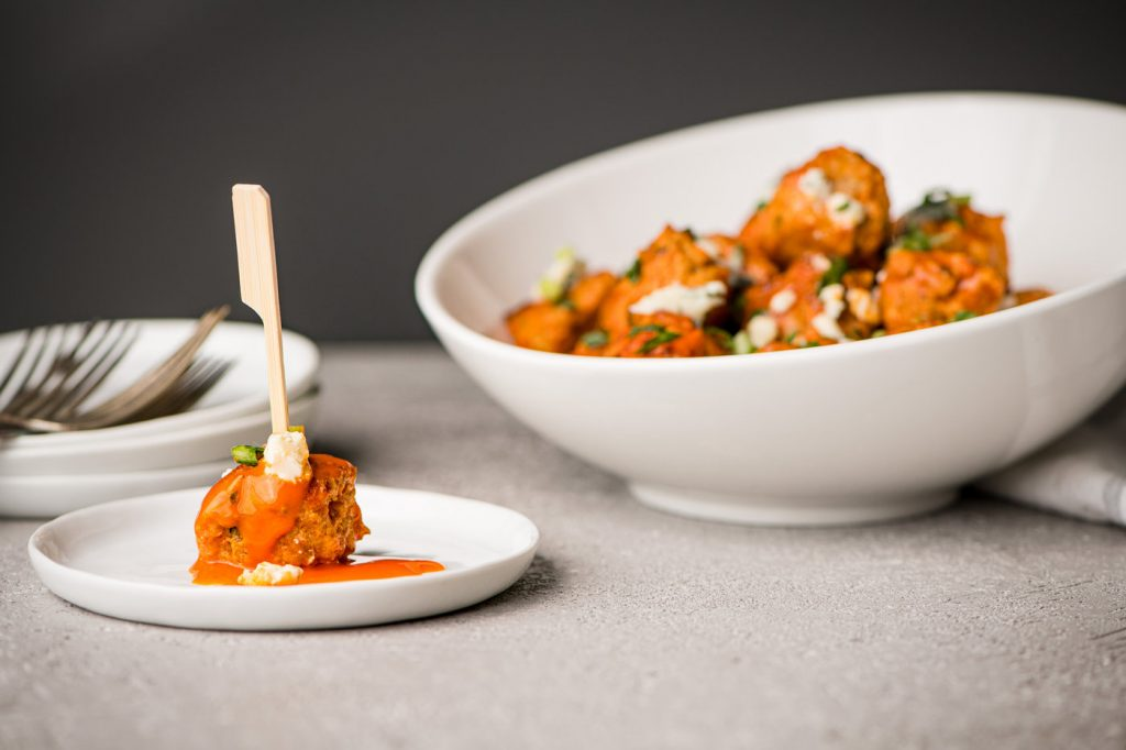 Game Day Buffalo Chicken Meatballs