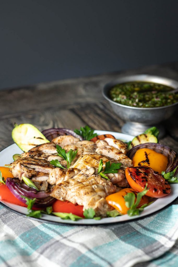Chimichurri with Grilled Chicken & Veggies