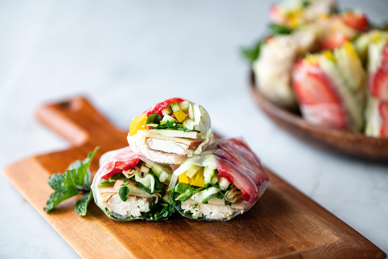 Sweet Sesame Salad Rolls