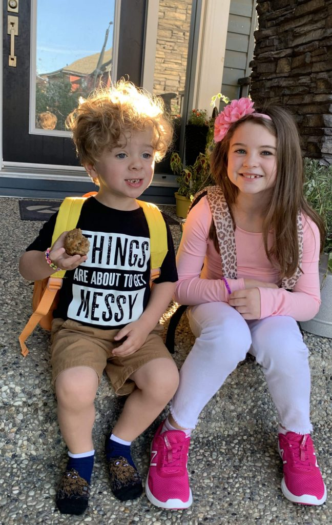 Cela and Remi first day of school 2019