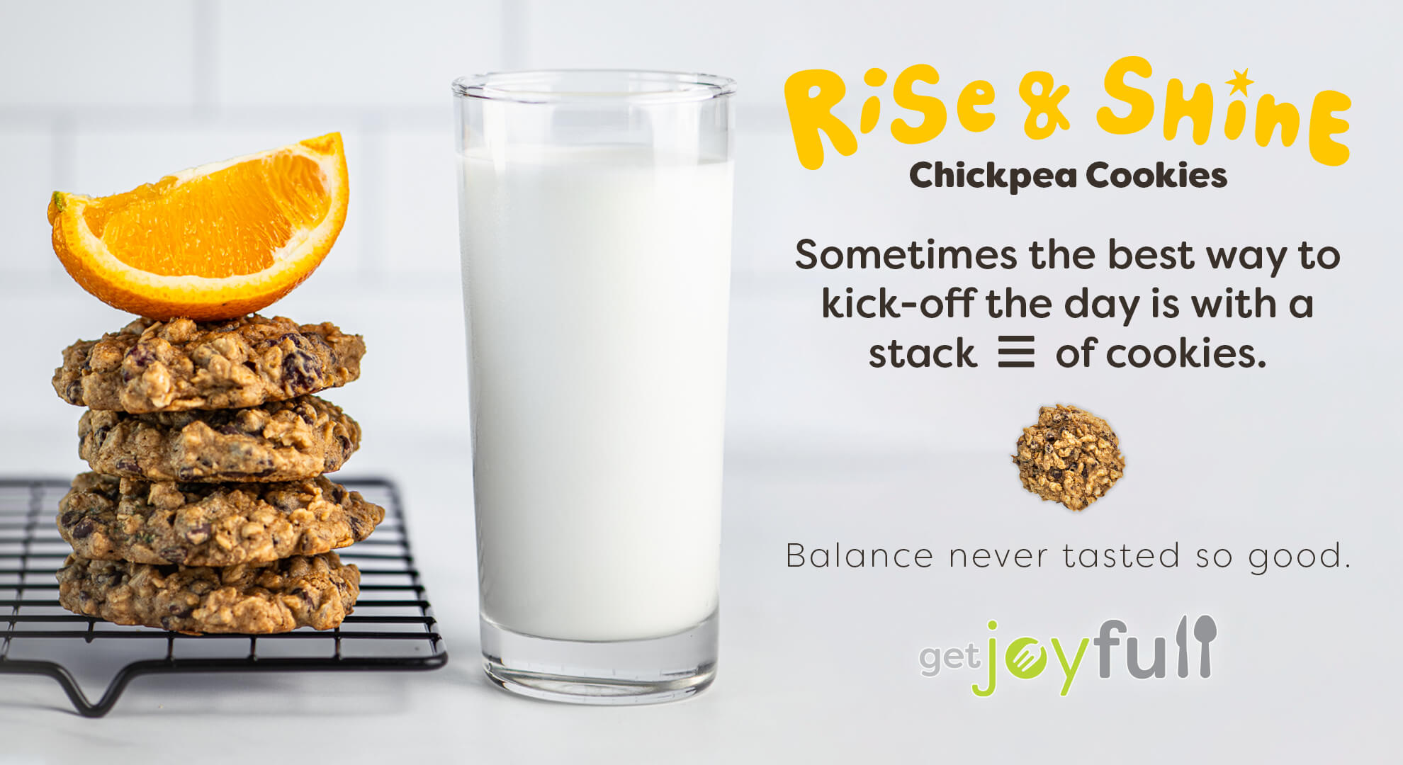 Rise & Shine Chickpea Cookies Graphic