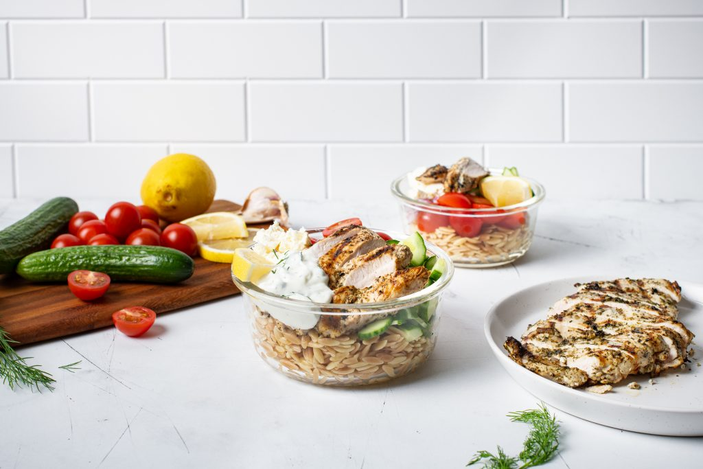 Mediterranean-inspired Chicken and Orzo
