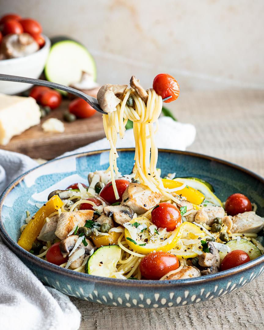 Spring Chicken & Lemon Spaghettini