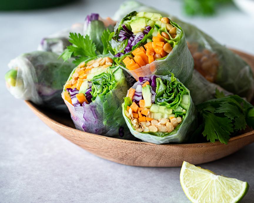 Slam-Dunk Lentil Salad Rolls