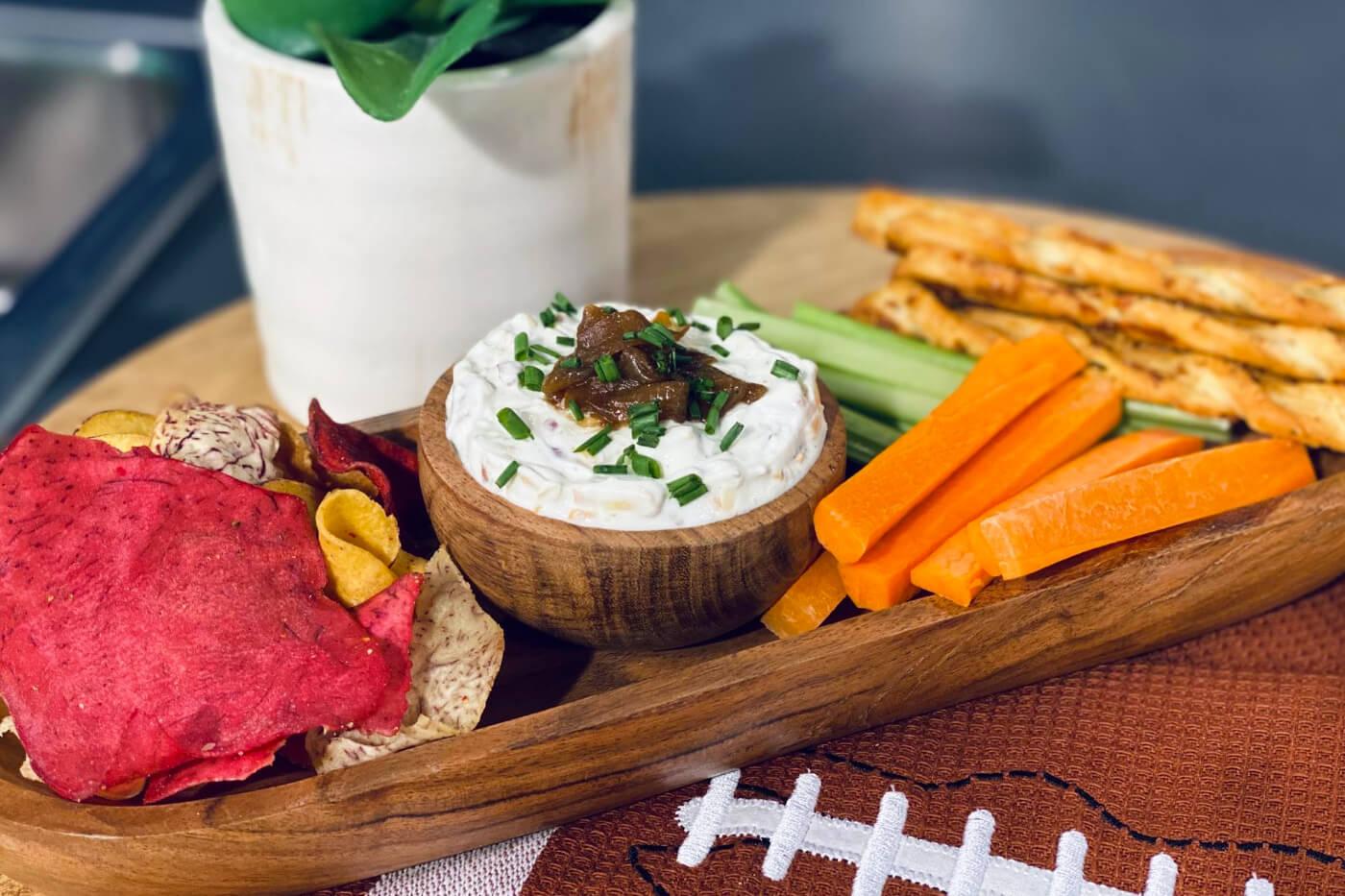 Caramelized Onion Super Bowl Party Dip